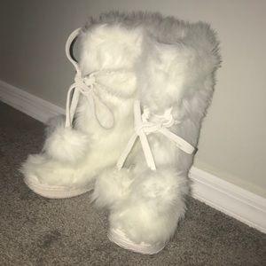 Colin Stuart Faux Fur Boots